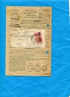 FISCAL-redevances Taxes Téléponiques-bordereau Plus Acquit-timbre DA 1Franc Surchargé Sur 1.20fr - Fiscaux