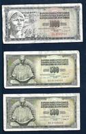 YUGOSLAVIA 1000 & 500 Dinars 1981 - Yugoslavia