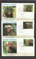 Polynésie  FDC YT 205/07 Coutonnes  Coiffures Papeete 19.10.83 - Frans-Polynesië