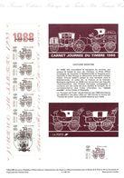 BC2526A Document Officiel De La Poste  Journée Du Timbre 1988  Voiture Montée - Postdokumente