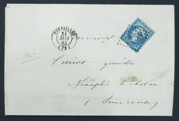 France, 1863 Lettre De Versailles Pour Neauphle Le Château, Empire Française - Postmark Collection (Covers)