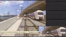 Zug 1999 Portugal 2361+Block 155 ** 10€ Eisenbahnen Auf Tejo-Brücken Bloque Bridge S/s Trains Bloc Sheet Bf Railway - Sonstige (Land)
