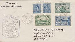 CANADA 1949 First Fligt VANCOUVER To SYDNEY.BARGAIN.!! - Eerste Vluchten