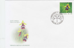 LATVIA 2003 FDC With Orchid.BARGAIN.!! - Orchideen