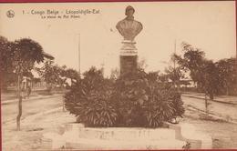 Belgische Congo Belge Leopoldville Est La Statue Du Roi Albert Koning Albert Standbeeld Borstbeeld Monarchy Belgium King - Kinshasa - Léopoldville