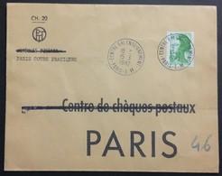 COURS D'INSTRUCTION TP Marianne Oblitéré Centre Ral Enseignement Paris EM Sur Enveloppe Paris Cours Pratiques 1982 - Cours D'Instruction