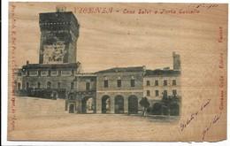 Vicenza. Casa Salvi E Porta Castello. Cartolina In Legno. - Vicenza