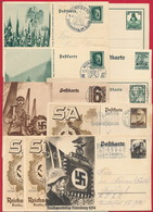D. Reich - Diverse Propaganda-Ganzsachen ~ 1934-1938 - Alemania