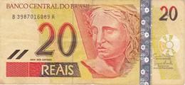 BILLETE DE BRASIL DE 20 REAIS DEL AÑO 2002 DE UN MONO LEON DORADO-MONKEY     (BANKNOTE) - Brasil