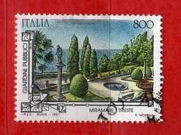 Italia °- 1997 - GIARDINI STORICI - MIRAMARE TRIESTE. Unif. 2328.  Usato.  Vedi Descrizione - 1946-.. République