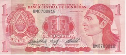 BILLETE DE HONDURAS DE 1 LEMPIRA AÑO 1984 (BANKNOTE) - Honduras