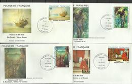 Polynésie  FDC YT A 178/81 Tableaux Peintures  Papeete 22.12.83 - Frans-Polynesië