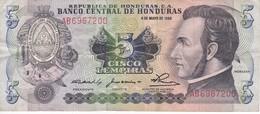 BILLETE DE HONDURAS DE 5 LEMPIRAS AÑO 1980 (BANKNOTE) - Honduras