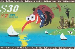 TARJETA TELEFONICA DE NUEVA ZELANDA, Kiwi - Green $30. NZ-PRE-STL-0005. (002) - Neuseeland