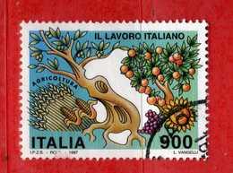 Italia °- 1997 - Il LAVORO ITALIANO. Unif. 2333.  Usato.  Vedi Descrizione - 1946-.. République