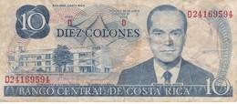 BILLETE DE COSTA RICA DE 10 COLONES AÑO 1981  (BANKNOTE) - Costa Rica