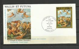 Wallis Futuna   FDC YT A 129 Tableau Peinture  Raphael Triomphe De Galatée - Wallis En Futuna
