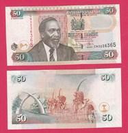 Kenya P47e, 50 Shillings Kenyata / Mobasa Tusks Mnmt, Camel Caravan UNC 2006 - Kenya