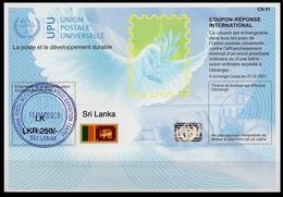 SRI LANKA  Is41A  LKR 250/-   20170925 AA  Int. Reply Coupon Reponse IAS IRC Antwortschein Hologram O COLOMBO 11.3.2019 - Sri Lanka (Ceylon) (1948-...)