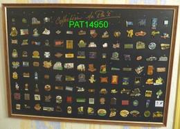 TABLEAU De 120  PIN'S Tous Différents Avec Attaches - Pins