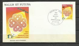Wallis Futuna   FDC YT 305  Année Mondiale Des Télécommunications - Covers & Documents