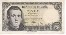 BILLETE DE ESPAÑA DE 5 PTAS DEL 16/08/1951 SERIE Z EN CALIDAD MBC (VF) (BANKNOTE) - [ 3] 1936-1975 : Régimen De Franco