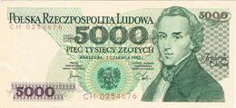NARODOWY BANK POLSKI - 5.000 ZLOTYCH - 1982 - Poland