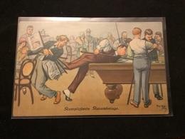Partie De Billard Illustrateur - Cartes Postales