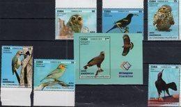 ENDEMIC BIRDS, 2018, XV PHILATELIC CONGRESS, OWLS, BIRDS, OF PREY, WOODPECKERS, INSECTS, 6v+S/SHEET - Uilen