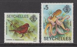 1990 Seychelles Definitive Reprints Birds Octopus  Complete Set Of 2 MNH - Seychelles (1976-...)