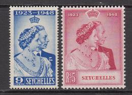 1948 Seychelles KGVI Silver Wedding Omnibus  Complete Set Of 2 MNH - Seychelles (1976-...)