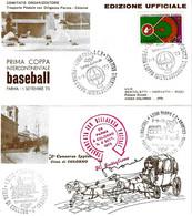 ITALIA - 1973 PARMA, COLORNO Trasporto Con Diligenza Postale Da Parma A Colorno Su Cartolina Doppia - Baseball