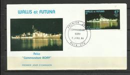 """Wallis Et Futuna  FDC YT A 132 Bateau Navire Aviso """"commandant BORY """" - Wallis En Futuna"""