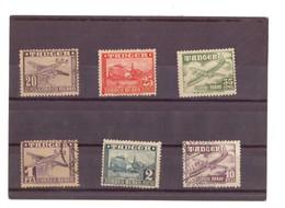 Marruecos. Protectorado. 6 Sellos Correo Aéreo. 1948. Tanger. N° 166 A 171. Rastros De Oxido. 2 Obliterados. - Marruecos Español