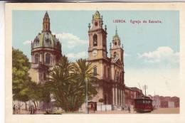 LISBOA. EGREJA DA ESTRELLA. CPA CIRCA 1910s TRAMWAY - BLEUP - Lisboa