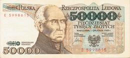 NARODOWY BANK POLSKI - 50.000 ZLOTYCH - 1989 - Poland