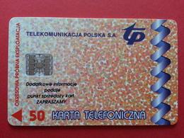 POLAND 61P - 50u Schlumberger Francja Lodz - 1000ex Test Pologne (CB1217 - Pologne