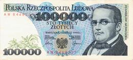 NARODOWY BANK POLSKI - 100.000 ZLOTYCH - 1990 - Poland
