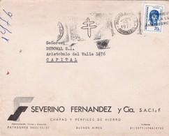SEVERINO FERNANDEZ & CIA-ENVELOPPE CIRCULEE AN 1976 BANDELETA PARLANTE ANTITUBERCULOSIS - BLEUP - Storia Postale