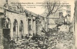ETREPY SUR SAULX   CHATEAU DE CHAVIGNE LA GRANDE GUERRE 1914-1916  LA SALLE DES GARDES - Francia