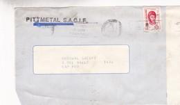 PITTMETAL SACIF. FRONT D'ENVELOPPE CIRCULEE 1974 BANDELETA PARLANTE ACCIDENTES NO SON ACCIDENTALES - BLEUP - Storia Postale