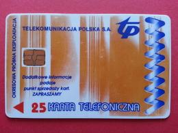 POLAND 58P - 25u Premium Trust Polsk Wroclaw - Test Pologne (CB1217 - Pologne