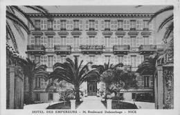 Nice Hôtel Des Empereurs Carte Bleue Et Sépia Sortie NB Au Scan - Cafés, Hôtels, Restaurants