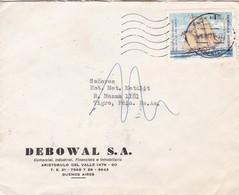 DEBOWAL SA-ENVELOPE CIRCULEE AN 1974 STAMP GRAL JOSE DE SAN MARTIN - BLEUP - Storia