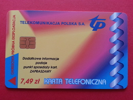 POLAND 54P - 7,49zl Siemens Giesecke Devrient Warszawa Wschod - 3500ex Test Pologne (CB1217 - Pologne