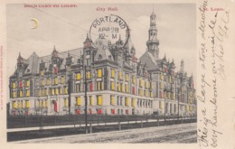 St. Louis Missouri City Hall Building Hold-to-Light C1900s Vintage Postcard - Hold To Light