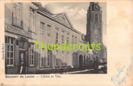 CPA SOUVENIR DE LEUZE L'HOTEL DE VILLE ESTAMINET - Leuze-en-Hainaut