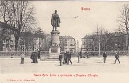 TORINO-PIAZZA CARLO FELICE-CARTOLINA NON VIAGGIATA ANNO 1900-1904 - Piazze