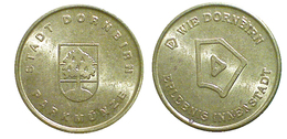 01598 GETTONE TOKEN JETON AUSTRIA PARCHEGGIO PARKING PARKMUNZE STADT DORNBIRN - Unclassified