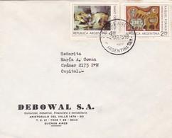 DEBOWAL SA. ENVELOPPE CIRCULEE BUENOS AIRES AN 1975 STAMPS THEMATIQUE D'ARTS - BLEUP - Argentina